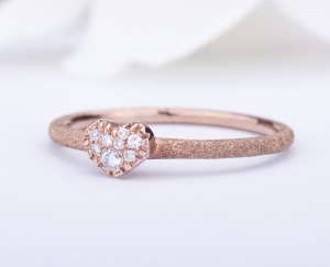 Heart RING GOLD STAR Gold 9KT 375‰ Engagement Diamonds Ring ct0,11 9-GSEFX392P-NG