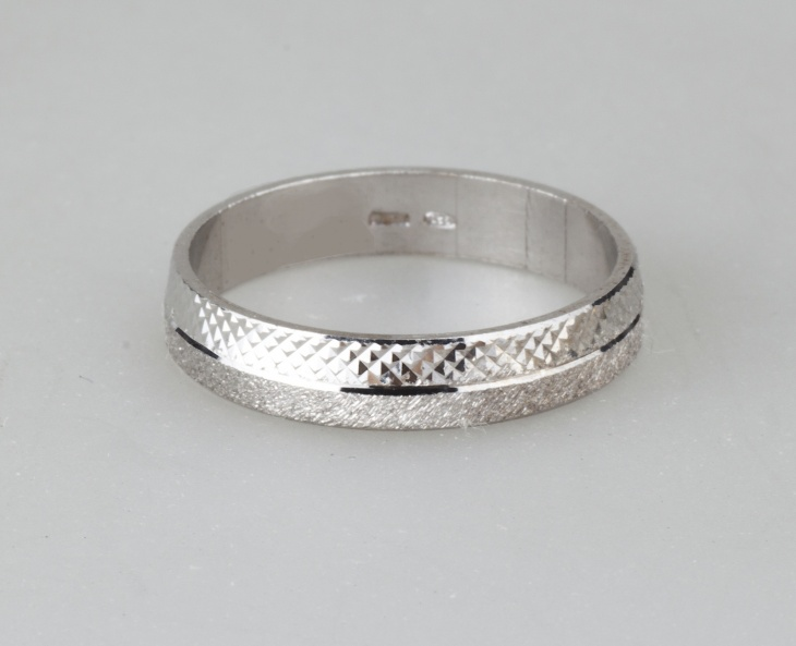 Ring 1 Silver 925‰ Engagement Incision AN0008AGS