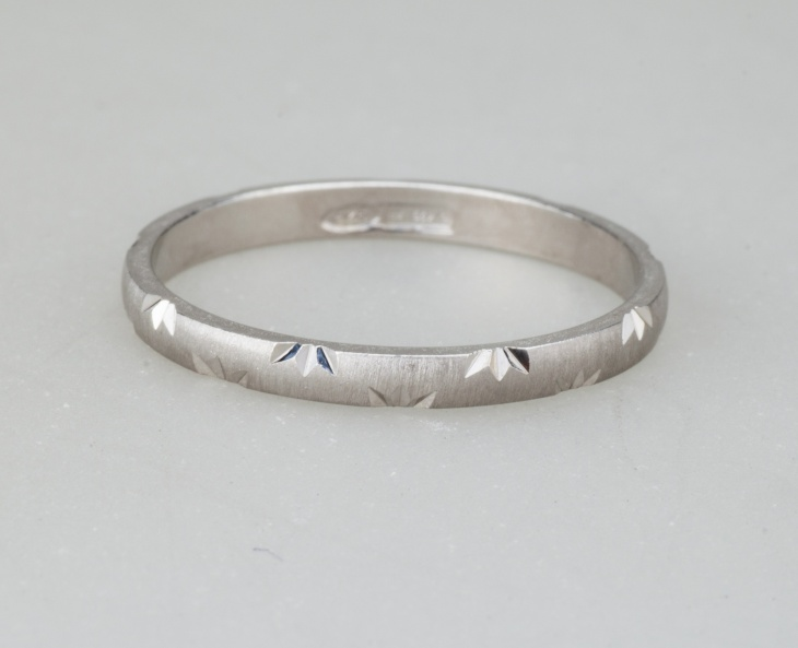 Ring 1 Silver 925‰ Engagement Incision AN0010AG S