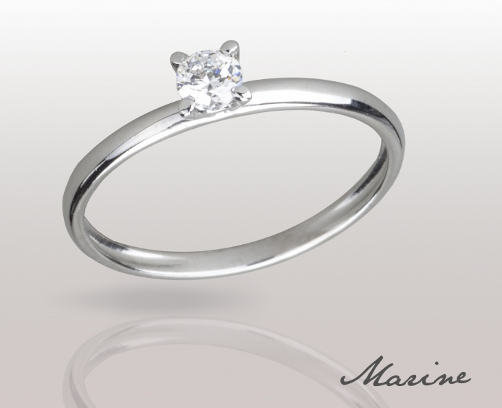 Woman RING MARINE Solid Silver 925 Zircon Ring Solitarie 74010278/13