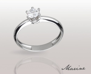 Woman Ring Marine Solid Silver 925 Zircon Ring Solitarie 74010275/30