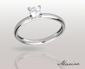 Woman RING MARINE Solid Silver 925 Zircon Ring Solitarie 74010278/30