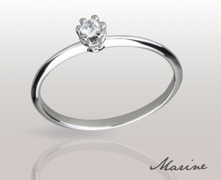 Woman  Ring Marine Solid Silver 925 Zircon Ring Incision 74010275/07