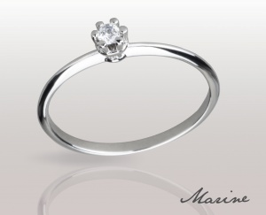 Woman Ring Marine Solid Silver 925 Zircon Ring Solitarie Incision 74010275/07