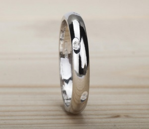 Ring Silver 925‰ Engagement Rings Incision AN0065AGSD