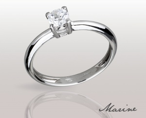 Woman RING MARINE Solid Silver 925 Zircon Ring Solitarie 74010280/15