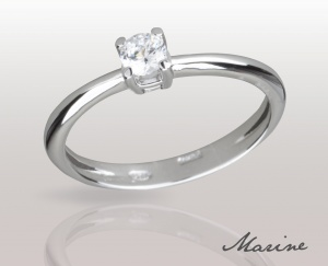 Woman RING MARINE Solid Silver 925 Zircon Ring Solitarie 74010280/40