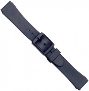 Watchstrap Unisex Black Pvc 18 mm 145/S