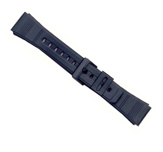 Watchstrap Unisex Black Soft Pvc 22 mm 331-22