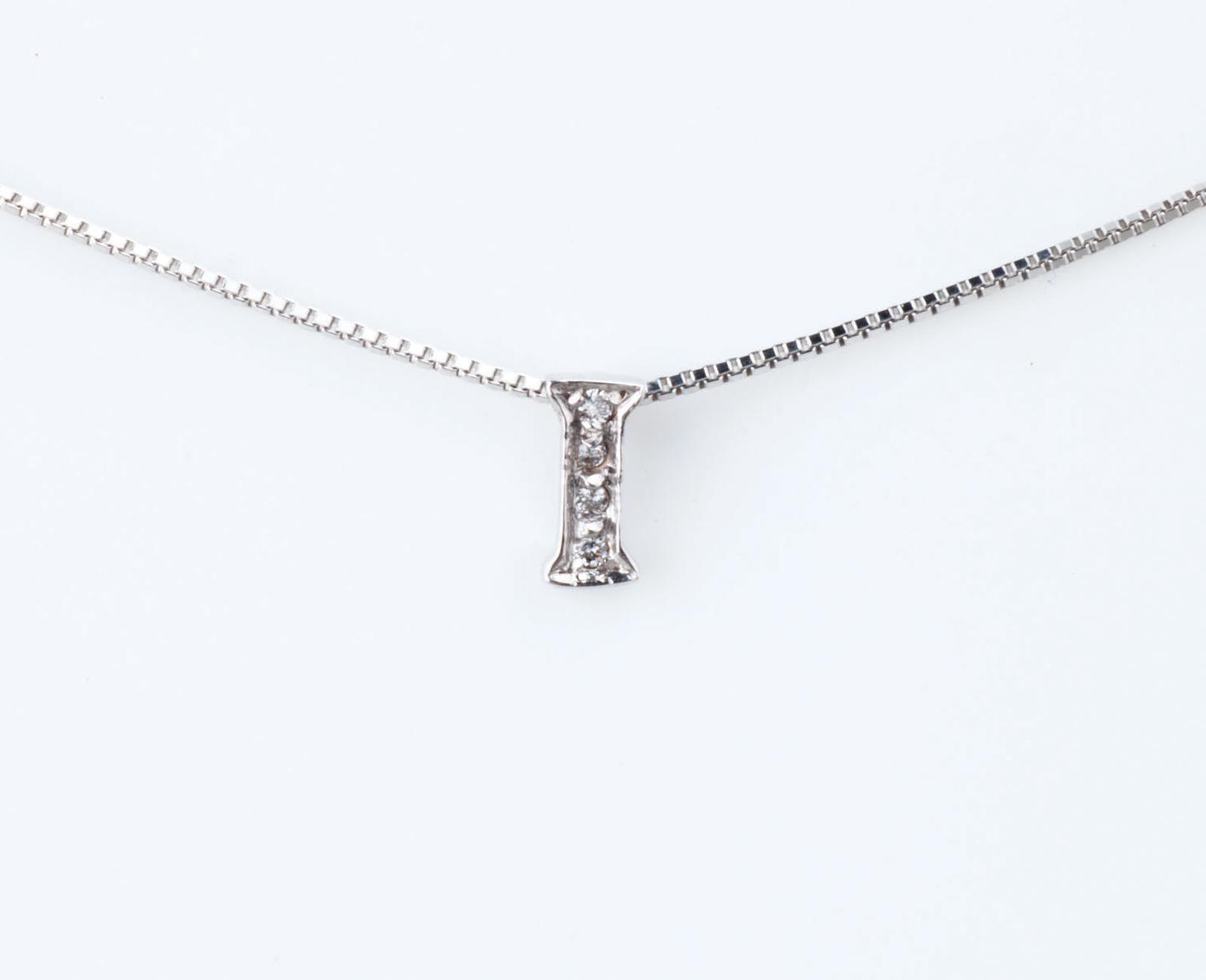 comprare on line b4aee eff06 Collier Collana Donna Iniziale Lettera I Nome Oro 18KT Tit.750‰ Diamanti  GG0069BG