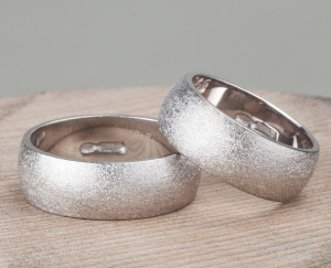 Couple 2 Silver 925‰ Rings Engagement Incision AN0016AG