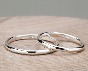 Couple 2 Rings Silver 925‰ Engagement Incision AN0009AG