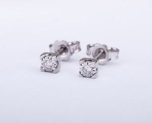 EARRINGS Woman GOLD STAR Gold 9KT 375‰ Diamonds ct0,04 9-GSEEX153