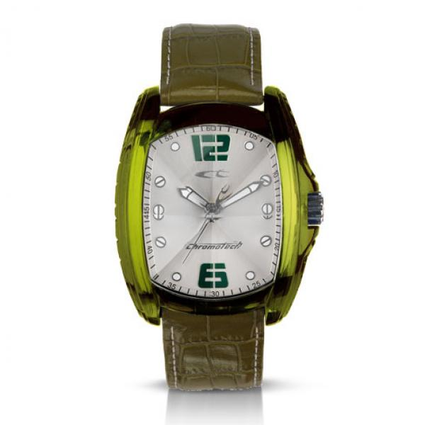 Watch Man CHRONOTECH DESIGN ANDROID Just Time Cover Steel Leather Green RW0010