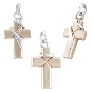 Pendant White Yellow Gold 375‰ 9KT Cross CO0005AU