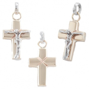 Pendant White Yellow Gold 375‰ 9KT Cross CO0011AU